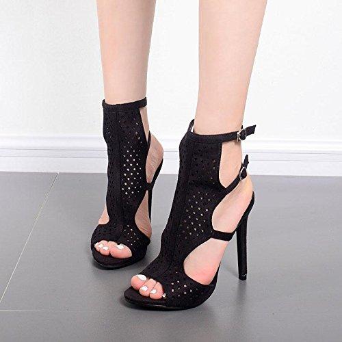 ZYUSHIZ Frau High-Heel Hausschuhe Sandalen den minimalistischen Stil Occidental 36EU