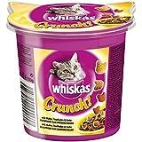Whiskas Crunch für Katzen aller Altersklassen / Snack mit extra Vitaminen / Huhn, Truthahn und Ente / 5er Pack (5 x 100 g)