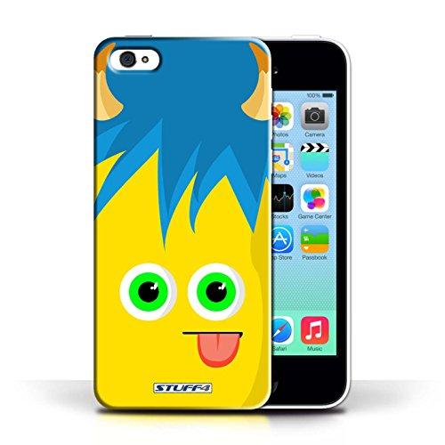 Kobalt® Imprimé Etui / Coque pour Apple iPhone 5C / Pourpre conception / Série Monstres Jaune