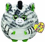 TY 7138040 - Oasis Ball - Zebra weiß/schwarz, 12 cm, Beanie Ballz