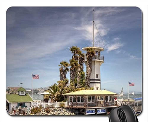 lighthouse-on-forbes-island-on-fishermans-wharf-san-francisco-mouse-pad-mousepad-lighthouses-mouse-p