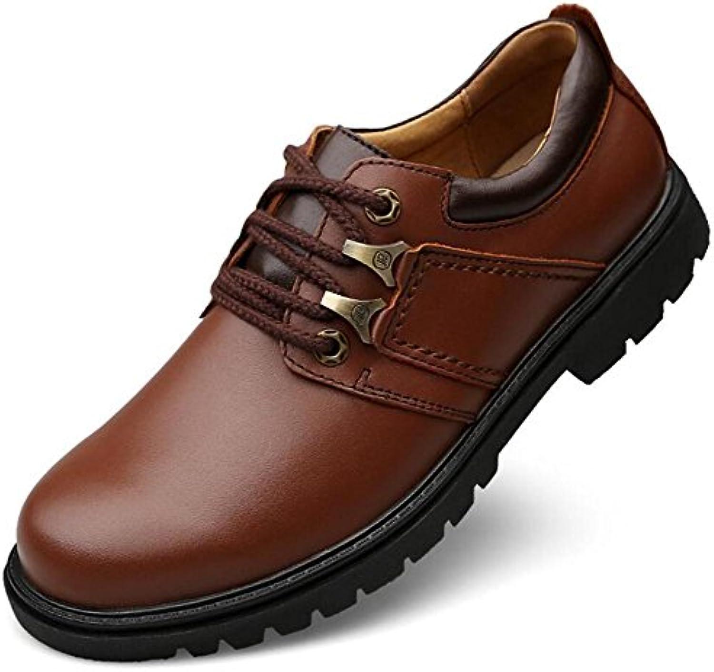 Herren Schuhe aus echtem Leder Casual Derby Schnürer Größe 39 bis 44