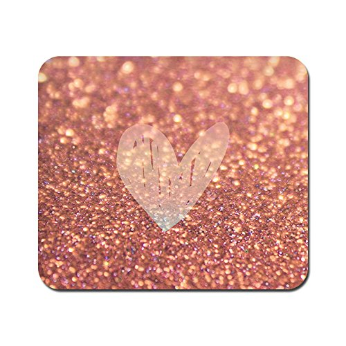 kmltail Rose Gold Sparkle Design Speed Mouse Mat for HP Dell Lenova iball Dragonwar Red Dragon Logitech ibuypower Zebronics Printed Photo Scene Natural Rubber Gaming Mouse Pad Non Slip base-Kmltail  available at amazon for Rs.159