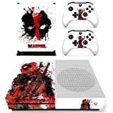 #8: Hytech Plus Deadpool Special Mask Edition Theme Sticker for Xbox One S Console & 2 Controllers