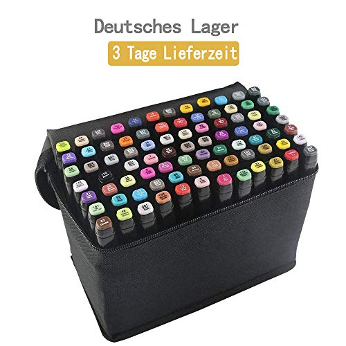 80 Farbige Graffiti Stift Fettig...