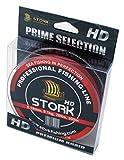 Stork HD, 4-Fach geflochtene Angelschnur 300m (Rot, 40 lbs / 18.1 kg / 0.29 mm)