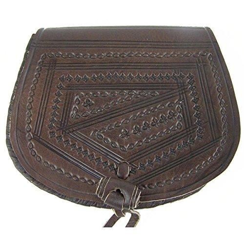 Ledertasche Handtasche Umhängetasche Schultertasche Aktentasche Tragetasche Leder Tasche Mittelalter Oval (dunkelbraun)