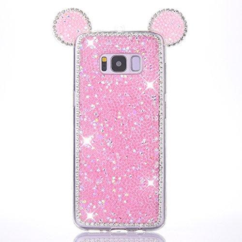 JIALUN- case Für Samsung Galaxy S8 + / G9550 Maus Ohr Gelee Diamant Muster TPU Schutzhülle mit Sling Beau et Pratique (Farbe : Rosa) Bella Sling
