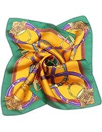 Fenteer Foulard Carré Femmes en 100% Soie de Mûrier Douce Lisse Convient  pour Uniformes Hôtesse f811b397c4e