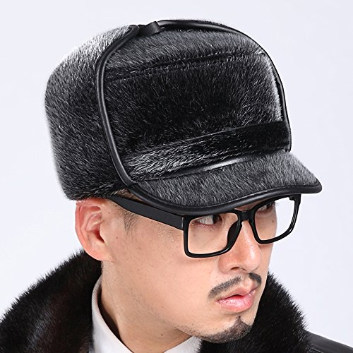 Aviator Russian Leather Bomber Hat