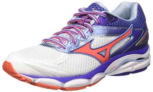 Mizuno Wave Ultima Wos J1GD1609 33, Scarpe da Corsa Donna, Bianco (White/Fiery Coral), 40 EU (6.5 UK)