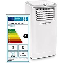 Trotec PAC 4100 E, Condizionatore d'aria locale, Capacità di raffreddamento max: 4.1 kW / 14.000 Btu, Bianco