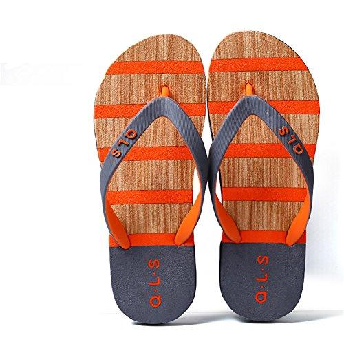 Hippolo Damen Sandalen Rutschfeste PVC-Druck Flip-Flops Männer Damen Strand Kinder Hausschuhe Startseite (38, Dunkelgrau)
