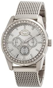 Marc Ecko Men's Watch E16597G1 with Silver Dial and Silver Mesh Bracelet