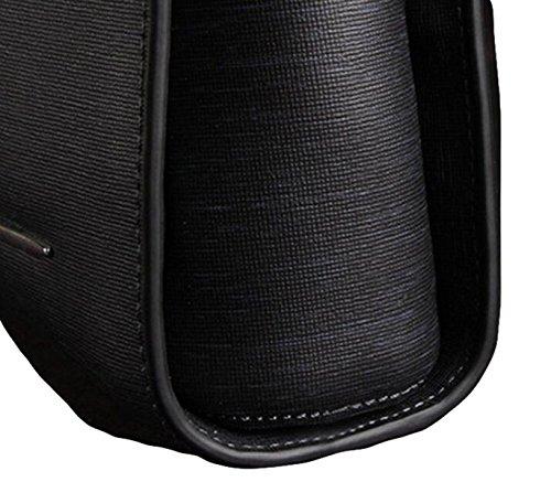 Männer Handtasche Leder Griff Business Tasche Aktenkoffer Mode Schlösser Freizeit Atmosphäre Wild Black
