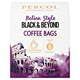 Percol Italian Style Black & Beyond Ground Coffee Bags 10 Bags (Pack of 6)