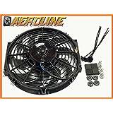 """Ventilador de refrigeración para radiador eléctrico 12"""" AEROLINE 120W 12V Ajuste universal"""