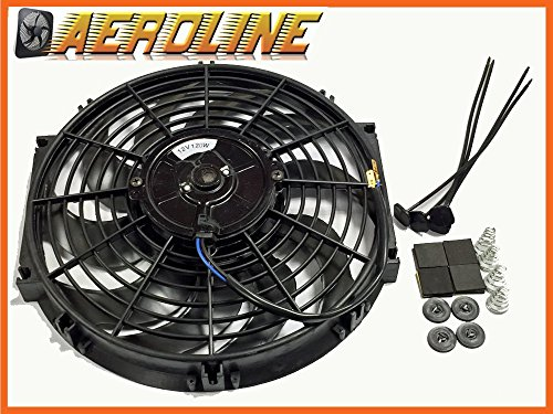 "12"" Aeroline 120W 12v Electric Radiator Cooling Fan Universal Fitting Test"