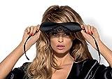 Obsessive Schlafmaske aus edlem Satin in hübscher Geschenkbox, schwarz, Einheitsgröße