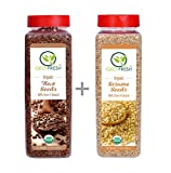 #2: Geo- Fresh Organic Combo ( Flax Seeds 500G + Sesame Seeds 500G ) - Usda Certified