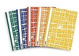 Herma 20208 Schnellhefter A4 Schoolydoo, Kunststoff, Set mit 5 Stück, je 1 Hefter blau, rot, grün, gelb, orange, mit Motiv