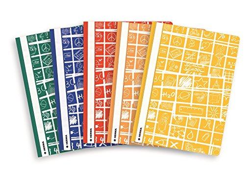 Herma 20208 Schnellhefter A4 Schoolydoo, Kunststoff, Set mit 5 Stück, je 1 Hefter blau, rot, grün,...
