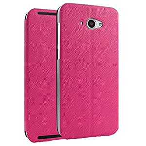 Heartly Premium Luxury PU Leather Flip Stand Back Case Cover For Lenovo S930 - Pink