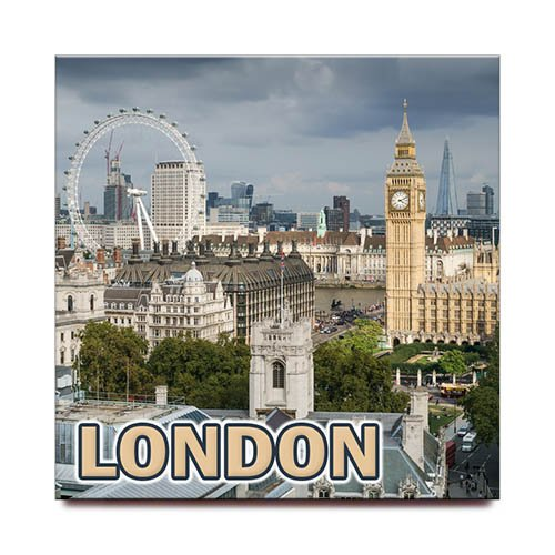 London quadratisch Kühlschrank Magnet United Kingdom England Travel Souvenir - Quadratische Magnete