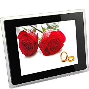 """DBPOWER® (12.1"""" inch, High Resolution of 800x600, Rotate and Zoom) LCD Digital Video Picture Photo Frame Wall Mount Movie Remote Control Slideshow SD USB MS MMC MP3 AVI JPEG Alarm Calendar Support Memory Cards Best Christmas New Year Gift Present"""