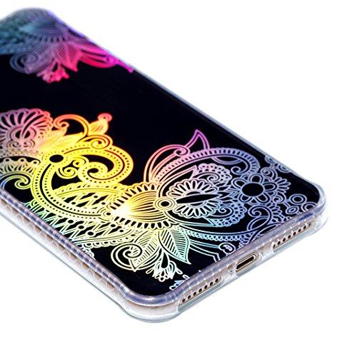 Caso Morbida per iPhone 7 Plus / 8 Plus, Asnlove TPU Silicone Gel Custodia Ultra Sottile Electroplated Cassa Placcatura Modello di Colore Cover Antiurto Gomma Elegante Case Posteriore, Colore-5 Colore-3