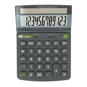 Hitech C1524BL Calculatrice de Bureau 12 chiffres Noir