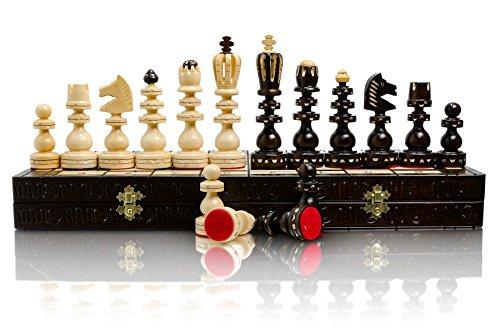 Exklusive römischen Extra groß 53cm/20,8 In gesetzt schöne hölzerne Schach