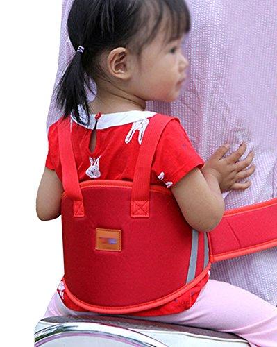 LAHAUTE Kinderlauf- und Schutzgurt Kindersitze für Motorrad Elektro-Auto Fahrrad rot
