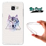 Becool Fun - Funda Gel Flexible Samsung Galaxy A5 2016 Dibujo Lobo 'Be Wild'.Carcasa TPU...