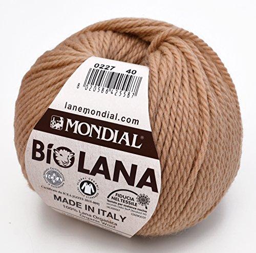 Mesh-wolle-garn (Lane Mondial BIO Garn, Wolle, nocciolino, 40x 45x 10cm)