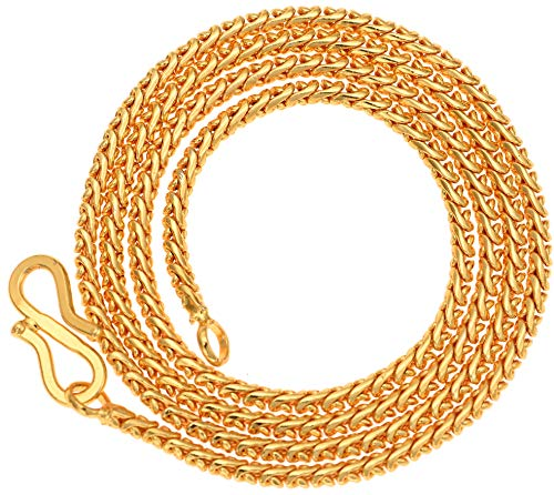 AanyaCentric 28inches Long Gold Plated Necklace Fashion Fancy Neck Chain for Men Women Girls Boys