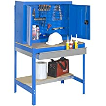 Simonrack - Kit banco trabajo bt-7 box1200 azul/madera