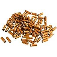 FLAMEER 100 Unids Durable Freno Cable End Caps Puntas Crimp Ferrules Cubierta De Polvo para MTB - Dorado, como se Describe