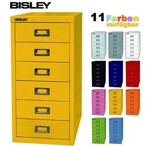 Schubladenschrank gelb - Bisley Schubladenschrank mit 6 Schüben