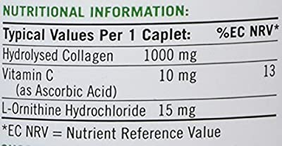 Nature's Bounty Hydrolysed Collagen with Vitamin C Caplets, 1000 mg, Pack of 90