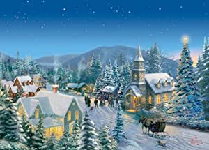 Thomas Kinkade - Traditions Vacances 1000pc - Scie sauteuse - Gibsons