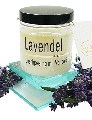 Körperpeeling Salz Lavendel Body Scrub mit Mandelöl, 320 g