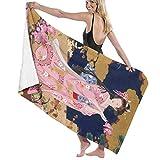 Poikl Ragazza Geisha Giapponese Abito Rosa Asciugamani da Spiaggia Unisex Asciugamani da Bagno Teen Adulti 31x51 Pollici