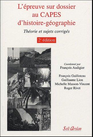L'épreuve sur dossier au CAPES d'histoire-géographie
