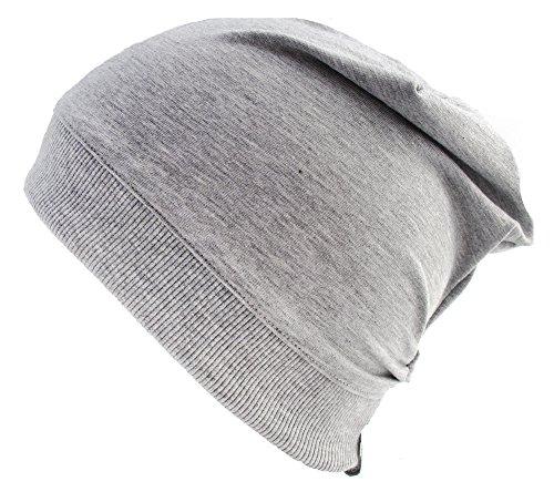 Wollhuhn ÖKO Leichte Beanie-Mütze einfarbig grau (aus Öko-Stoffen), 20140918, Größe: XXS (Baby Beanie Grau)