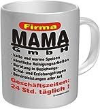 Kaffeebecher Glühweinbecher Tasse RAHMENLOS® Mama GmbH...