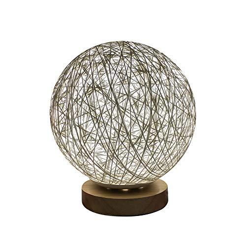 Lolittas USB 3D Led Rattan Lune Nuit Lumière Lampe De Table Moonlight (A, 20CM)