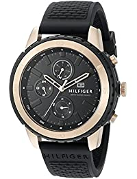 Tommy Hilfiger Herren-Armbanduhr Analog Quarz Silikon 1791195