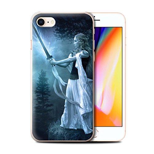 Officiel Elena Dudina Coque / Etui pour Apple iPhone 8 / Ange Gardien Design / Super Héroïne Collection Épée Magique