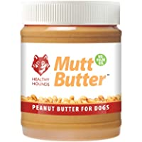 Healthy Hounds Mutt Butter 100% Natural Peanut Butter For Dogs   No Added Salt, Sugar, Sweeteners, Xylitol   PALM OIL FREE   Formulated Specially for Dogs   Natural Dog Treat 340g
